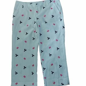 Lily Pulitzer crab and lobster embroidered capris
